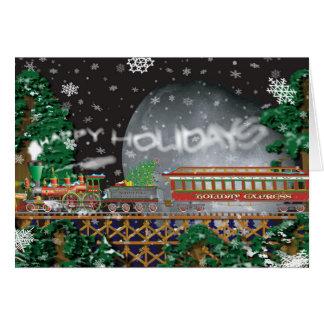 Cartão do trem do Natal do feriado