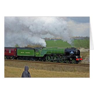 Cartão do trem do vapor