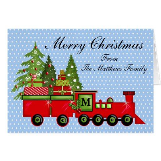 Cartão do trem expresso do Natal
