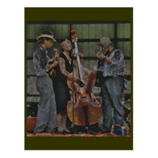 Cartão do trio do Bluegrass