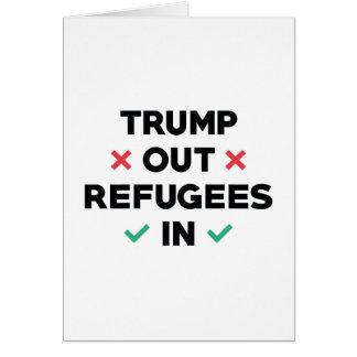 Cartão Do trunfo refugiados para fora dentro