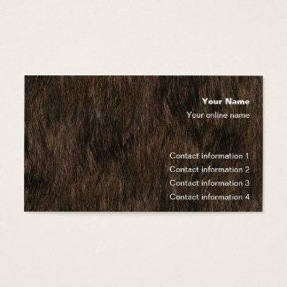 Cartão do truque do couro cru do urso/