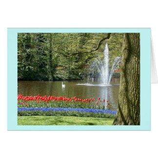 """Cartão Do """"tulipas primavera """""""