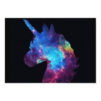 Cartão do unicórnio da galáxia