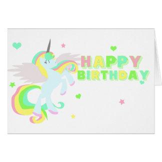 Cartão do unicórnio do feliz aniversario