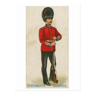 Cartão do uniforme militar do vintage