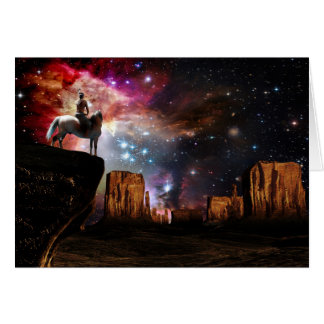 Cartão do universo do nativo americano