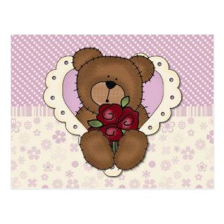 Cartão do ursinho de Lavendar
