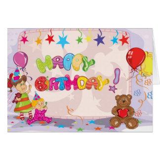 Cartão do ursinho do feliz aniversario