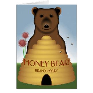 Cartão do urso de mel
