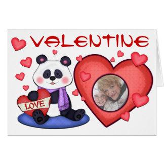 Cartão do urso de panda do dia dos namorados