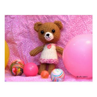Cartão do urso de ursinho de Amigurumi
