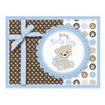 Cartão do urso de ursinho do menino cartões postais