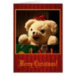 Cartão do urso de ursinho do Natal