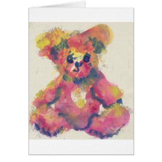 cartão do urso de ursinho do watercolour