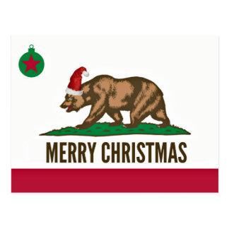 Cartão do urso do Feliz Natal dos Estados da Cartão Postal