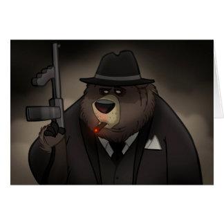 Cartão do urso do gângster