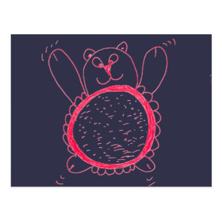 Cartão do urso do girassol