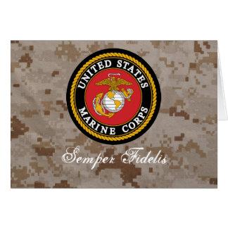 Cartão do USMC Digital Camo Semper Fidelis