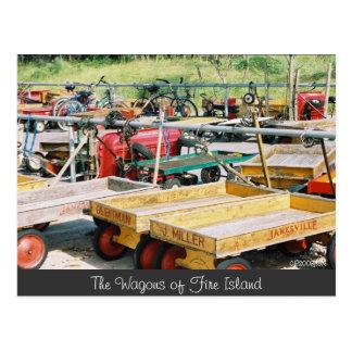 Cartão do vagão da ilha do fogo