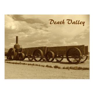 Cartão do Vale da Morte do estilo do vintage!