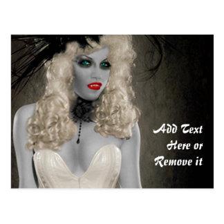 Cartão do vampiro do vintage