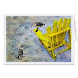 Cartão do vazio da cadeira de praia