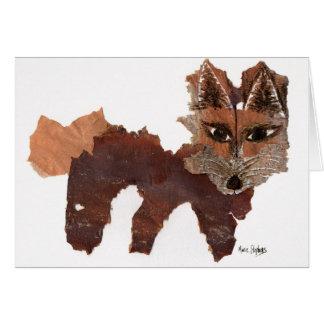 Cartão do vazio da cara do Fox, surpresas felizes