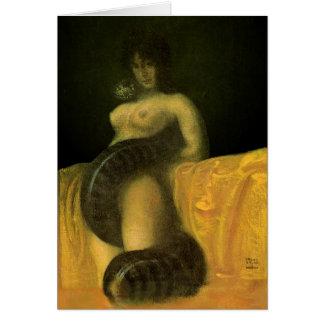 Cartão do vazio da menina do cobra