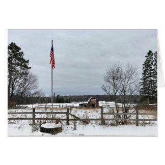 Cartão do vazio da paisagem do inverno de Michigan