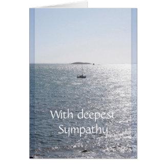 Cartão do vazio da simpatia do mar e do barco