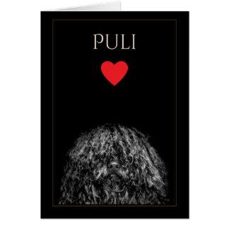 Cartão do vazio do amor de Puli