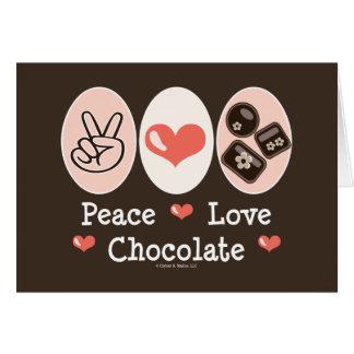 Cartão do vazio do chocolate do amor da paz