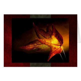 Cartão do vazio do fulgor do outono