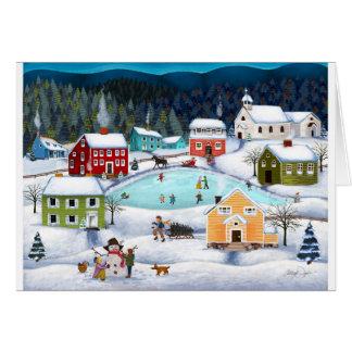 Cartão do vazio dos povos do inverno