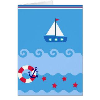 Cartão do veleiro do mar com lugar para você texto