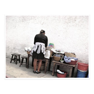Cartão do vendedor ambulante