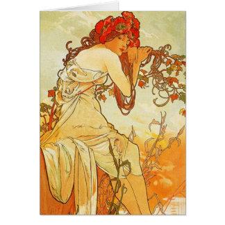 Cartão do verão de Alphonse Mucha