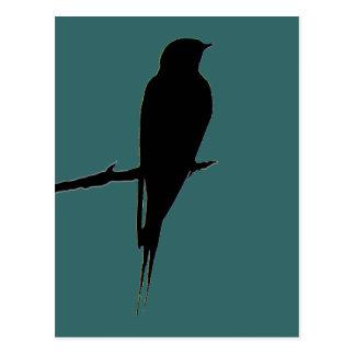 Cartão do verde da andorinha de celeiro