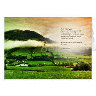Cartão do verso da bíblia do 17:30 de Matthew
