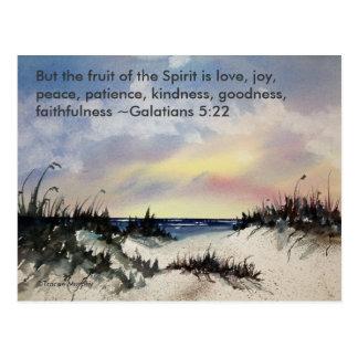 Cartão do verso da bíblia do 5:22 de Galatians