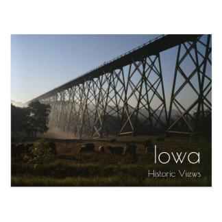 Cartão do viaduto da estrada de ferro