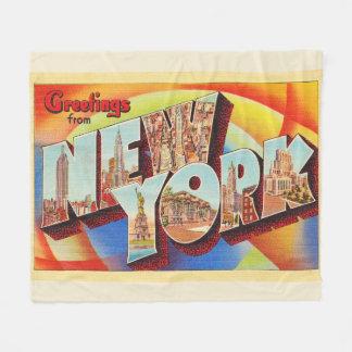 Cartão do viagem da letra da Nova Iorque #2 NY Cobertor De Velo