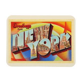 Cartão do viagem da letra da Nova Iorque #2 NY Ímã