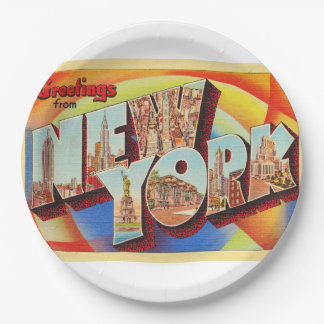 Cartão do viagem da letra da Nova Iorque #2 NY Prato De Papel