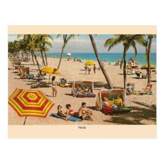 Cartão do viagem da praia de Florida do vintage Cartão Postal