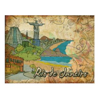 Cartão do viagem de Brasil Rio de Janeiro