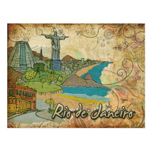 Cartão do viagem de Brasil Rio de Janeiro Cartoes Postais