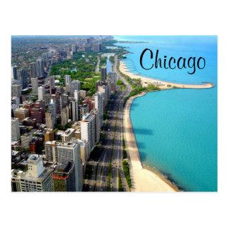 Cartão do viagem de Chicago Illinois da vista