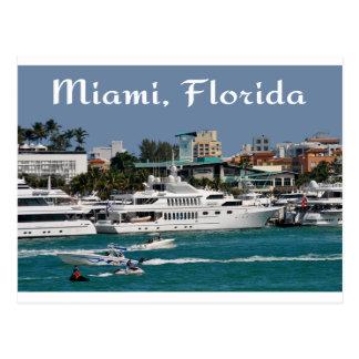 Cartão do viagem de Florida do porto de Miami